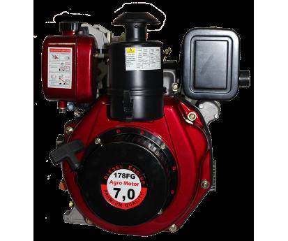 Двигатель Agromotor 178 F (шлицевой вал)